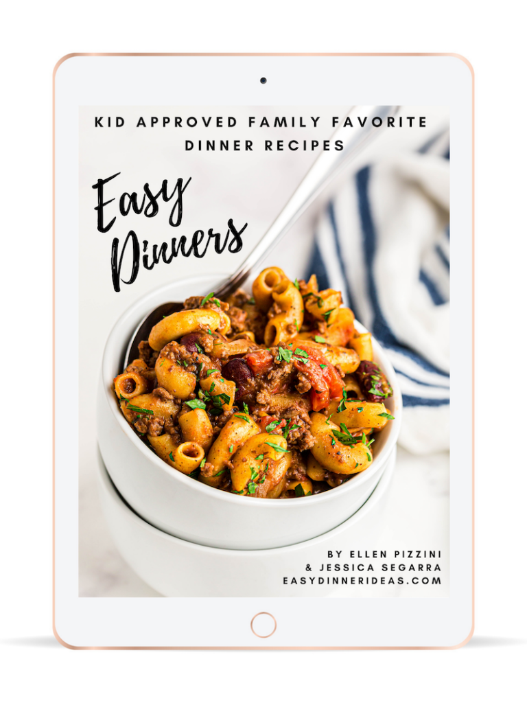 Easy dinners ebook on a tablet